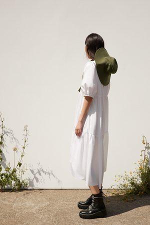 Zara Vestido asimétrico popelín