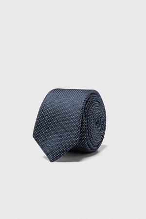 Zara Hombre Corbatas - Corbata estrecha jacquard geométrico