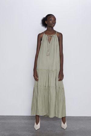 Zara Vestido efecto arrugado