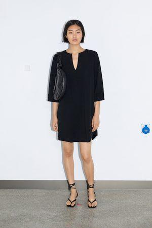 Zara Mujer Cortos - Vestido corto estructura