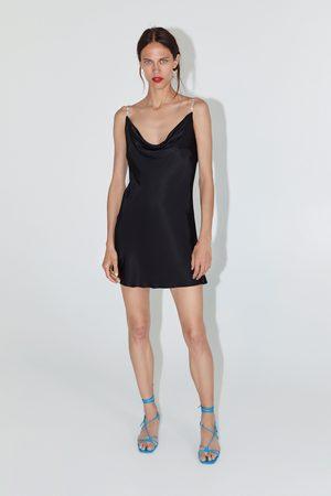 Zara Vestido mini lencero