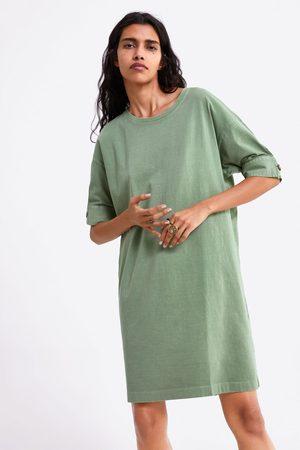 Zara Mujer Vestidos - Vestido botón