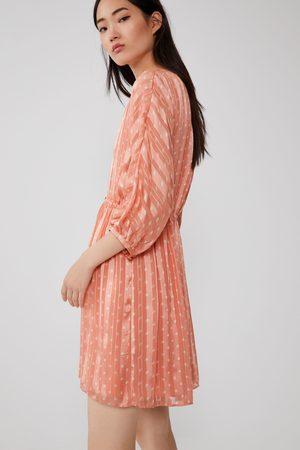Zara Mujer Vestidos - Vestido combinado lunares