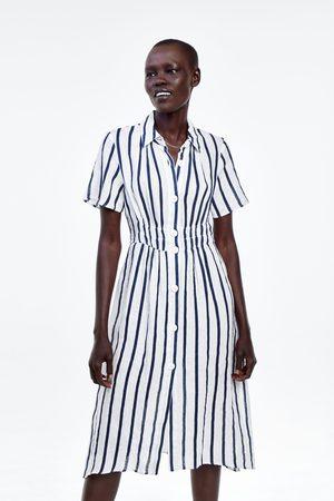 Zara Vestido lino rayas