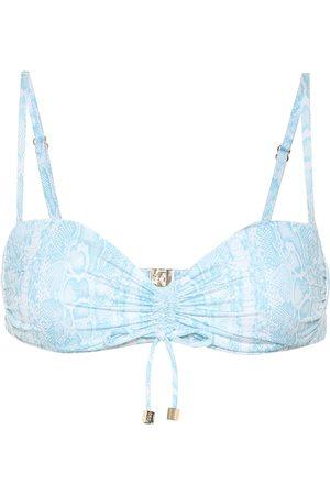 Heidi Klein Lake Manyara snake-print bikini top
