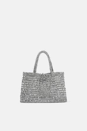 Zara Mini shopper metalizado