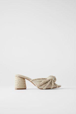 Zara Mujer De tacón - Mule tacón nudo desflecado