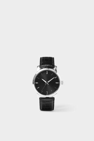 Zara Reloj minimal pulsera piel negra