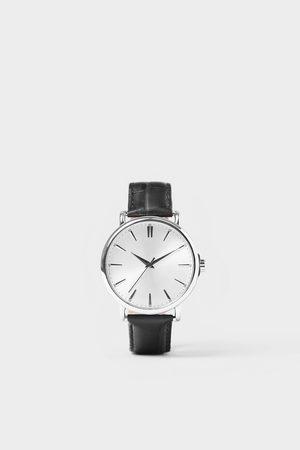 Zara Hombre Relojes - Reloj look vintage pulsera piel negra