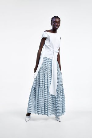 Zara Falda larga estampada