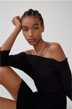 Zara Mujer Vestidos - Vestido elástico costuras