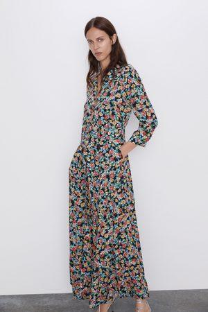 Zara Vestido largo estampado floral