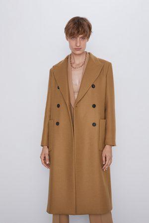 Zara Mujer Abrigos - Abrigo largo bolsillos