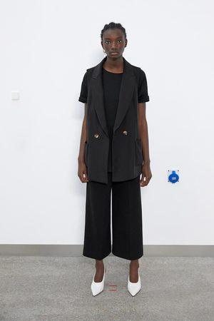 Zara Mujer Chalecos - Chaleco bolsillos