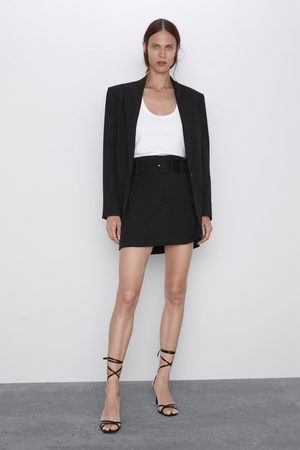 Zara Mujer Minifaldas - Falda mini cinturón
