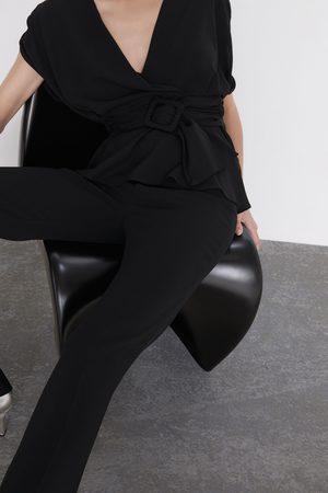 Zara Mujer Tops - Top cruzado cinturón