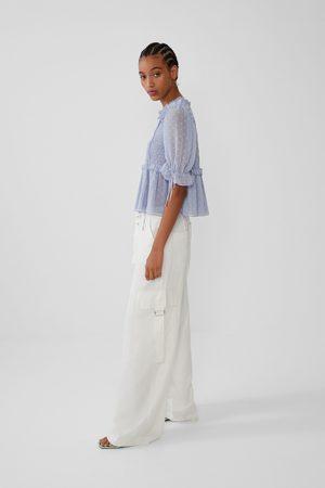 Zara Mujer Camisas - Camisa plumeti