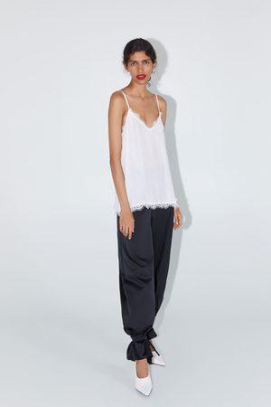 Zara Mujer Tops - Top lencero jacquard