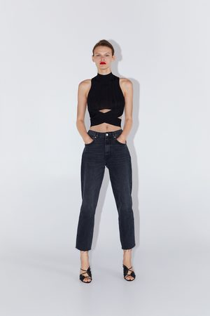 Zara Mujer Tops - Top canalé cut out