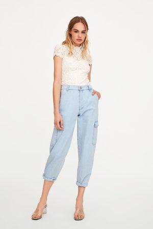 Zara Mujer Playeras - Camiseta encaje