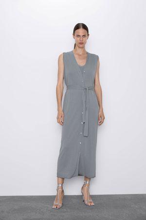 Zara Mujer Chalecos - Chaleco vestido punto
