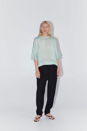 Zara Mujer Camisas - Cuerpo jacquard lunares