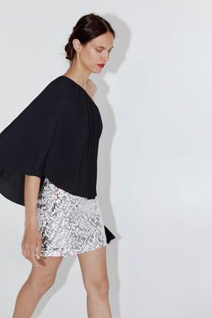 Zara Falda mini lentejuelas