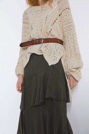 Zara Mujer Faldas - Falda volantes