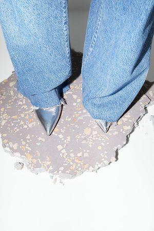 Zara Zapato tacón alto piel metalizado