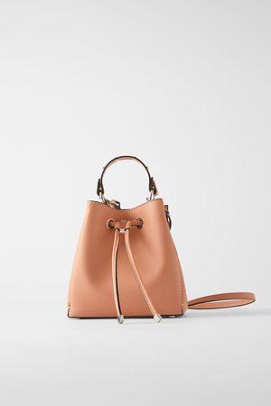 Zara Mujer Bolsas - Bolso mini saco tachas