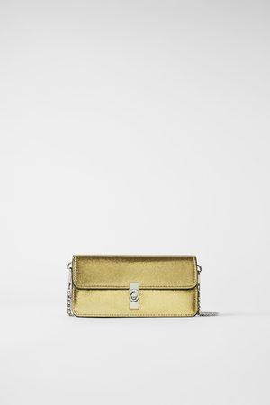 Zara Mujer Carteras y Monederos - Bandolera cartera metalizada