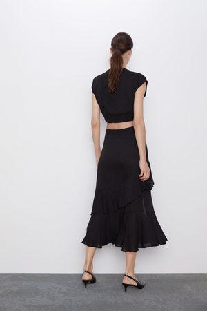 Zara Mujer Faldas - Falda volantes lunares