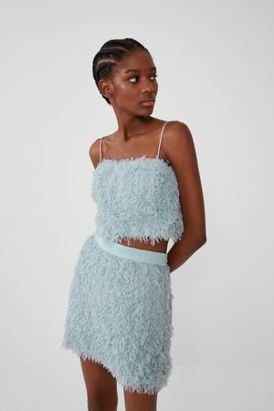 Zara Mujer Tops - Top cropped efecto pluma