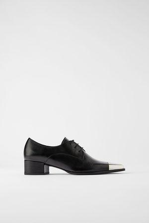 Zara Mujer Zapatos - Zapato plano piel punta metal