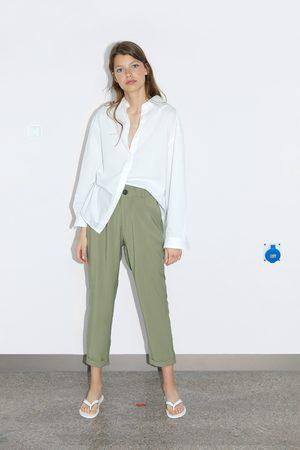 Zara Mujer Pantalones y Leggings - Pantalón fluido