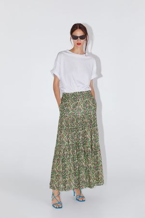 Zara Mujer Estampadas - Falda larga estampada