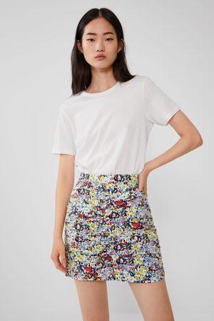 Zara Falda mini estampada
