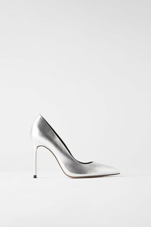 Zara Mujer Tacones - Zapato tacón alto piel metalizado