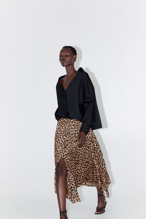 Zara Mujer Plisadas - Falda plisada estampado animal