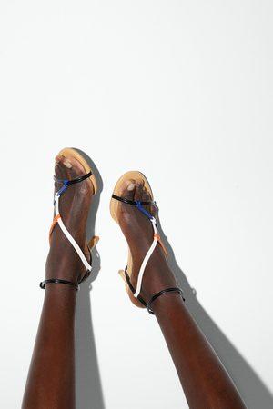 Zara Mujer Con hebilla - Sandalia tacón medio tiras
