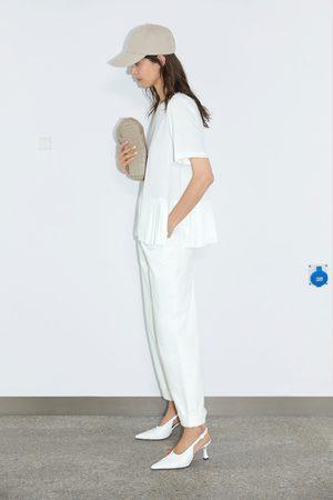 Zara Mujer Camisas - Cuerpo bajo plisado