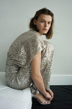 Zara Mujer Camisas - Cuerpo lentejuelas