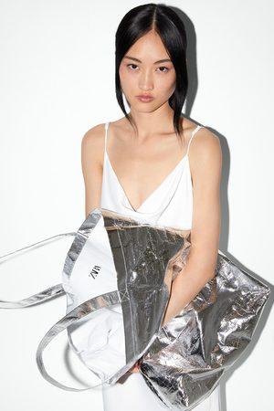 Zara Bolso maxi shopper metalizado