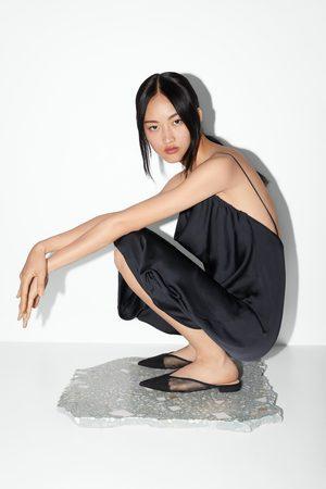 Zara Mujer Zapatos - Mule plana rejilla