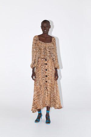Zara Mujer Faldas - Falda estampado