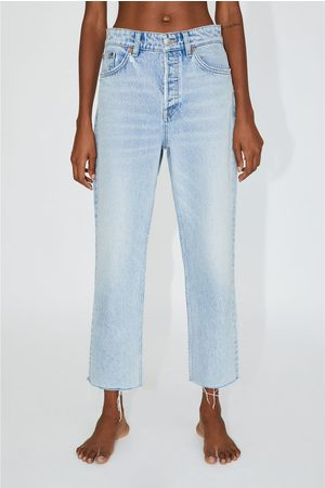 Zara Mujer Rectos - Jeans hi rise straight