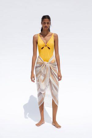 Zara Mujer Trajes de baño completos - Bañador detalle anilla