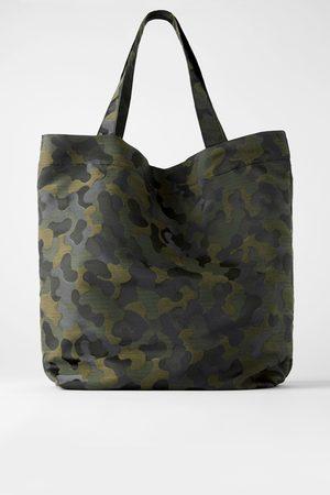 Zara Bolso shopper camuflaje
