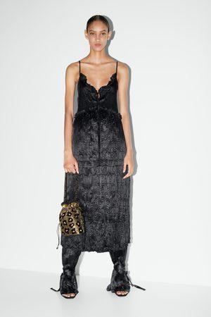 Zara Mujer Bolsas - Bolso saco abalorios
