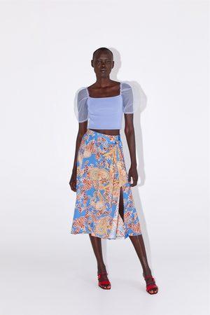 Zara Mujer Estampadas - Falda estampada lazo